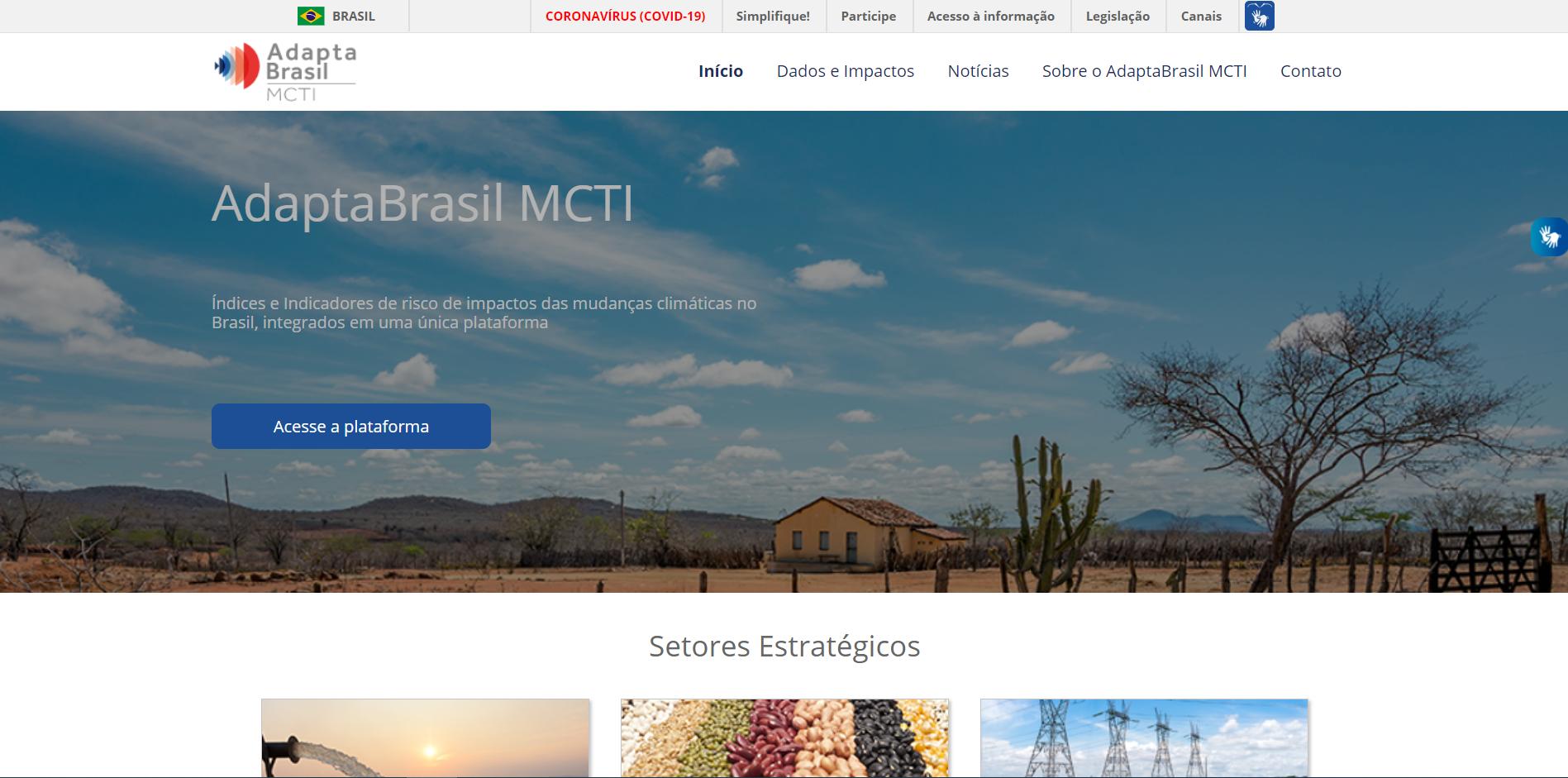 Impactos das mudanças climáticas, adaptação e políticas públicas: AdaptaBrasil MCTI é lançado