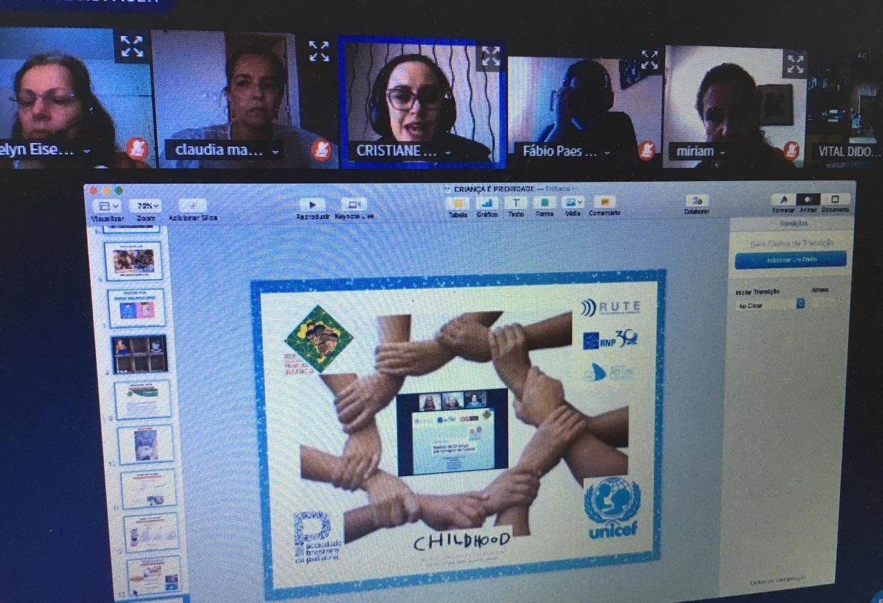 O webinar contou com quatro palestras de especialistas sobre diversos aspectos que envolvem o desenvolvimento de crianças e adolescentes