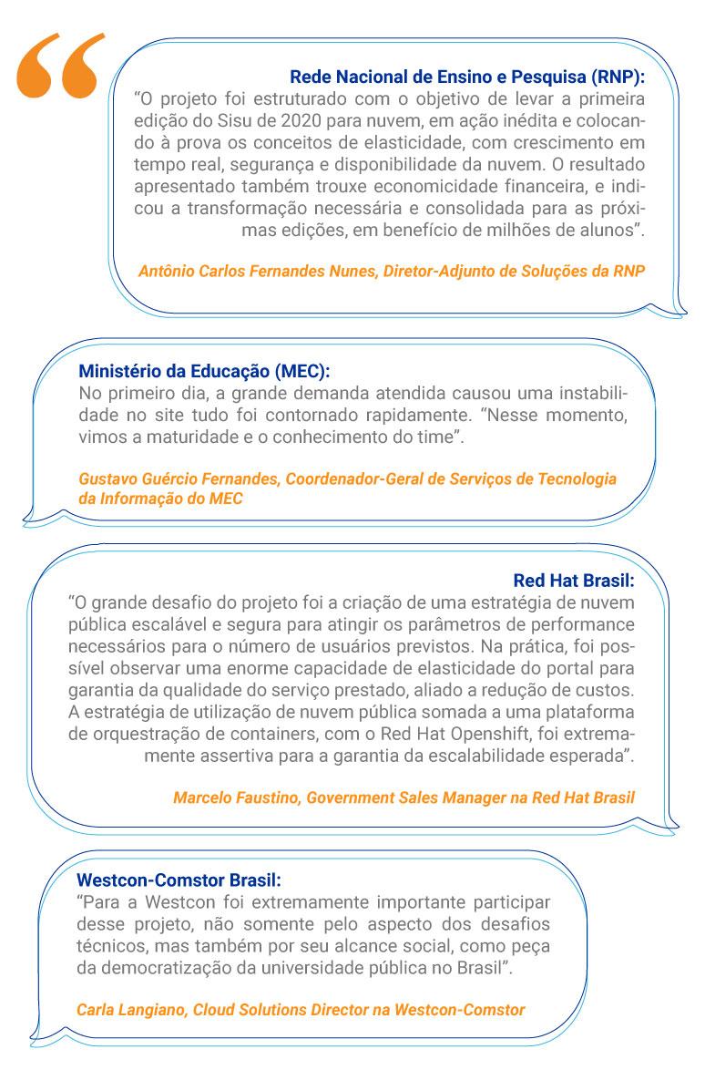 RNP, MEC, Microsoft, Westcon-Comstor Brasil e Red Hat comentam ação