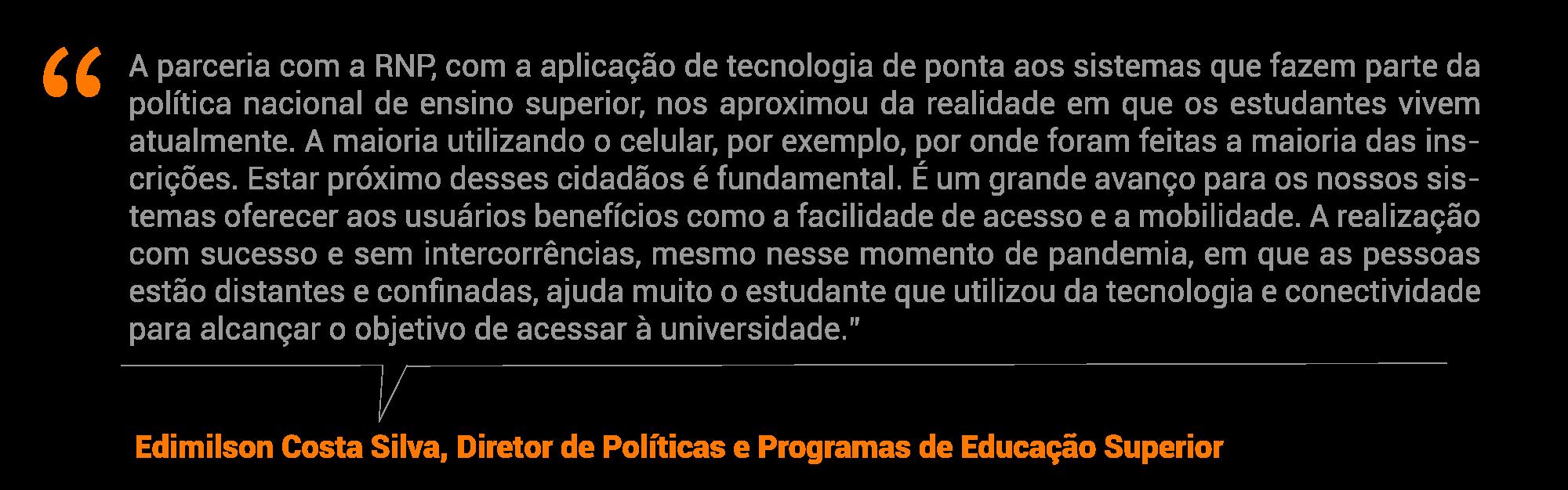 Edimilson Costa Silva, diretor de Políticas e Programas de Educação Superior
