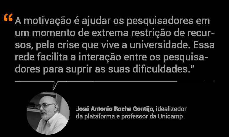 José Antonio Rocha Gontijo, idealizador da plataforma e professor da Unicamp