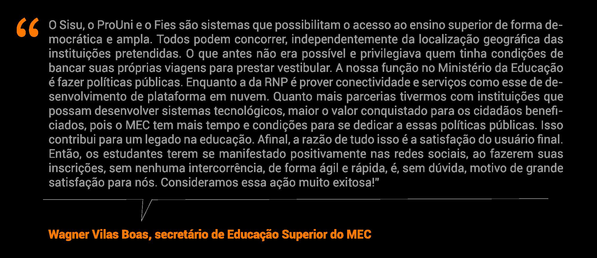 Wagner Vilas Boas, secretário de Educação Superior