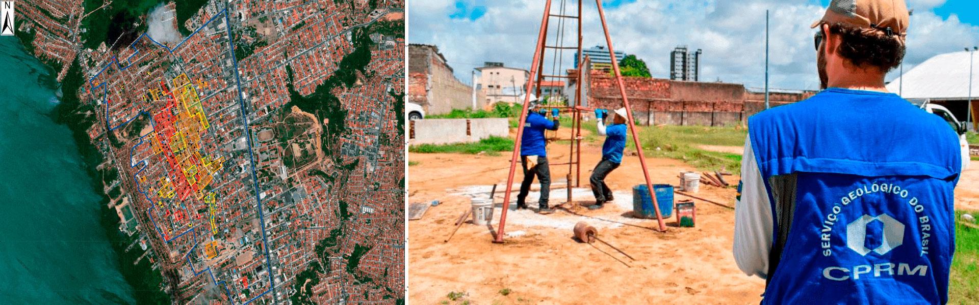 Atuação da CPRM em Bairro Pinheiro, em Maceió (AL)